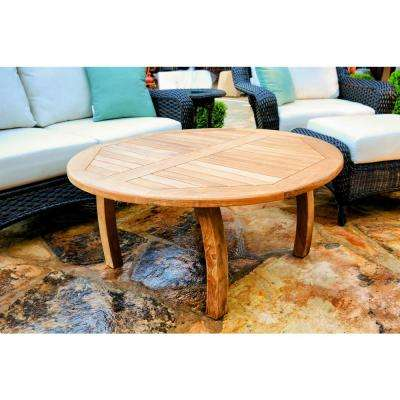 Jakarta 40 in. Round Teak Outdoor Coffee Table
