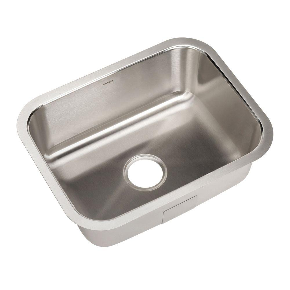 Eston Series Undermount Stainless Steel 23 in. Single Bowl Kitchen Sink