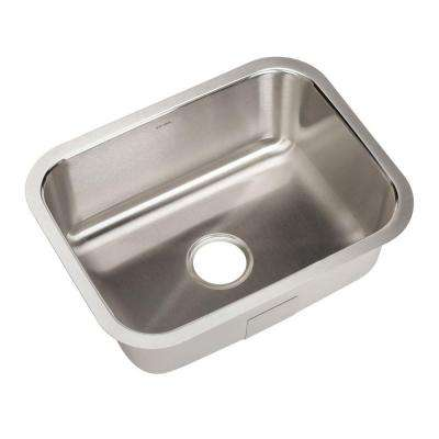 Eston Series Undermount Stainless Steel 23 in. Single Bowl Bar/Prep Sink