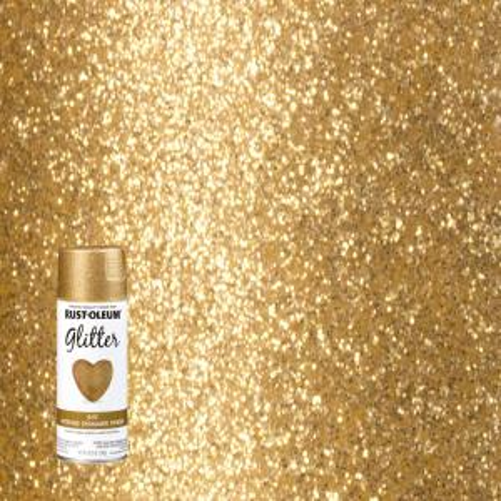 Rust Oleum Specialty 10 25 Oz Gold Glitter Spray Paint