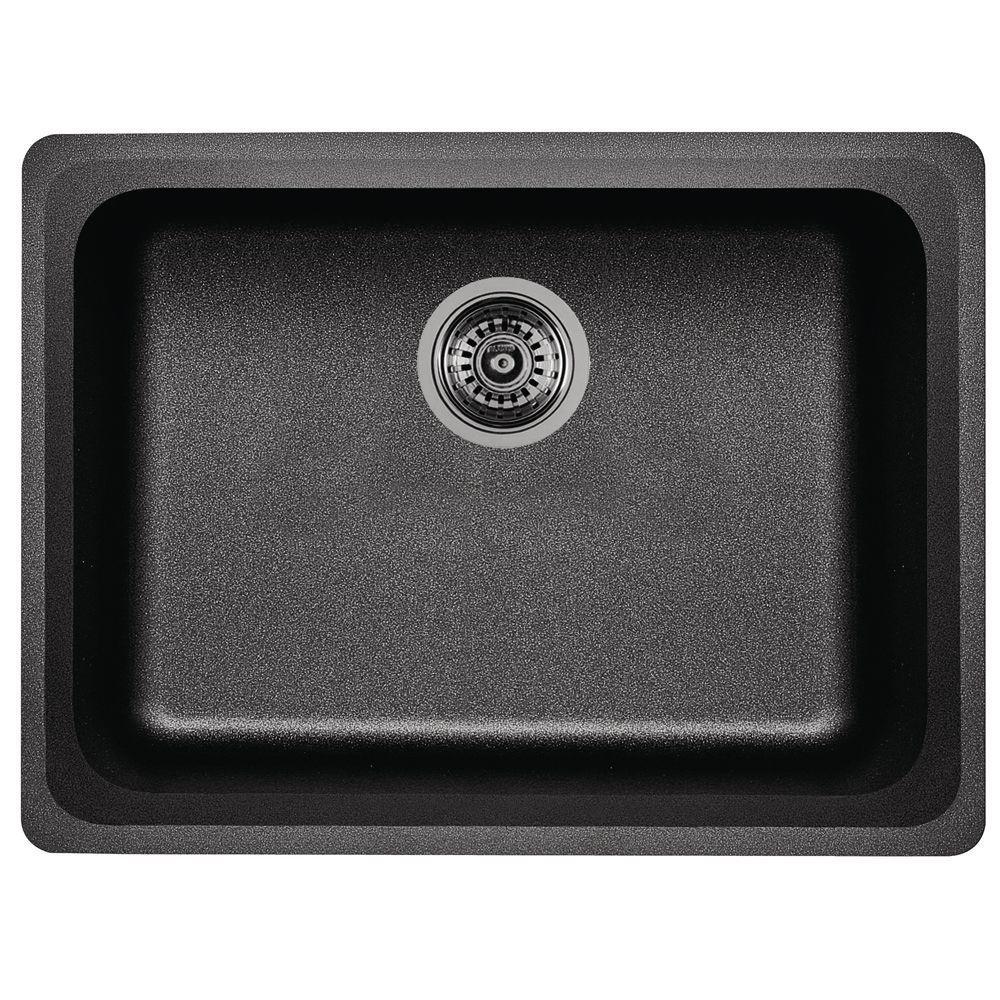 blanco vision undermount granite composite 24 in  0 hole single bowl kitchen sink in blanco vision undermount granite composite 24 in  0 hole single      rh   homedepot com
