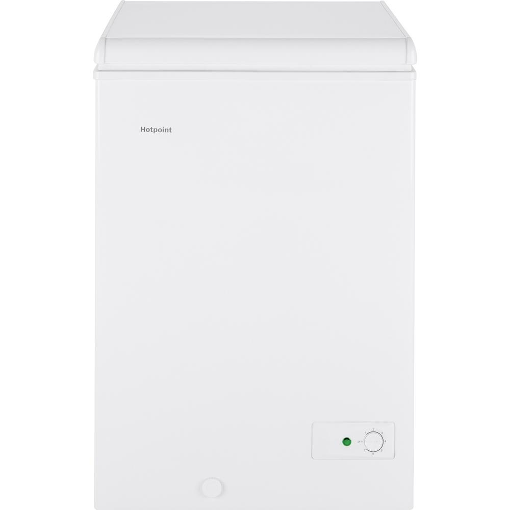 Hotpoint 3.6 cu. ft. Manual Defrost Type Chest Freezer in White