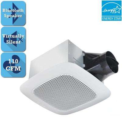 signature series 110 cfm ceiling bathroom exhaust fan with bluetooth speaker energy star - Bluetooth Bathroom Fan