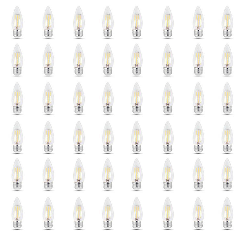 40-Watt Equivalent B10 Dimmable Filament CEC LED ENERGY STAR 90+ CRI Clear Glass Light Bulb, Soft White (48-Pack)