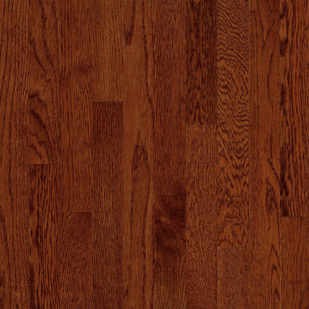 Bruce Take Home Sample Natural Reflections Oak Cherry Solid Hardwood Flooring 5 In
