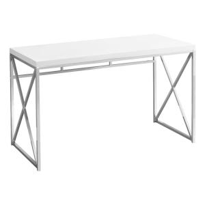 Jasmine 1-Piece White Computer Desk