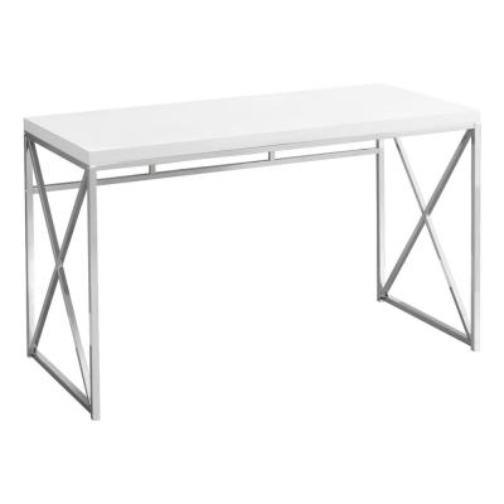 Jasmine 1-Piece White Computer Desk