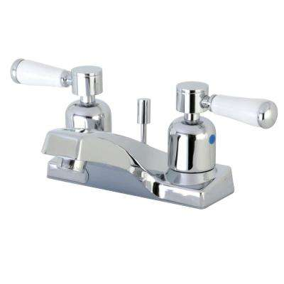 Paris 4 in. Centerset 2-Handle Bathroom Faucet in Polished Chrome