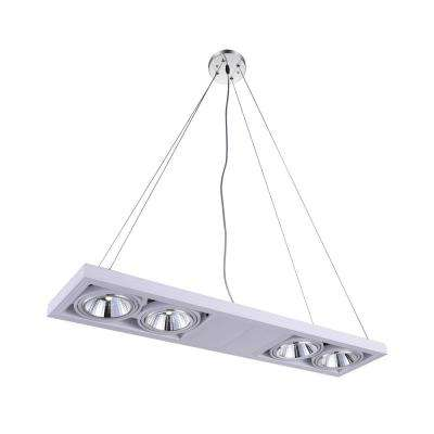 Wrest 10-Watt White Integrated LED Chandelier
