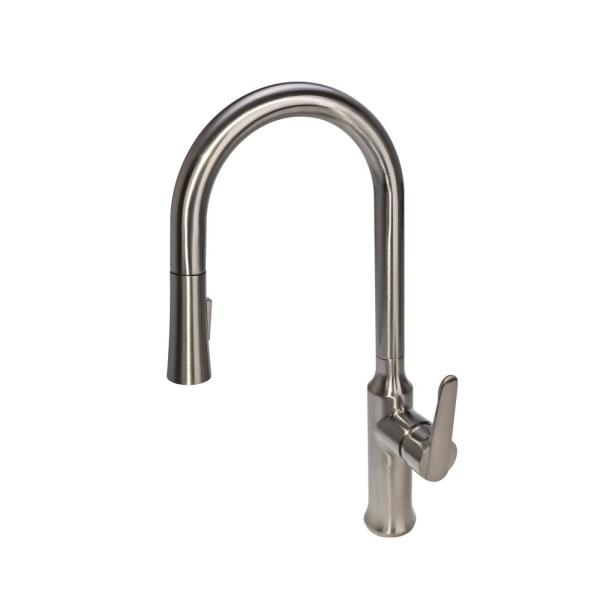 Sseries Modern Single Handle Single Hole Pull Down Sprayer Kitchen Faucet In Brushed Nickel N88421n1 Bn The Home Depot