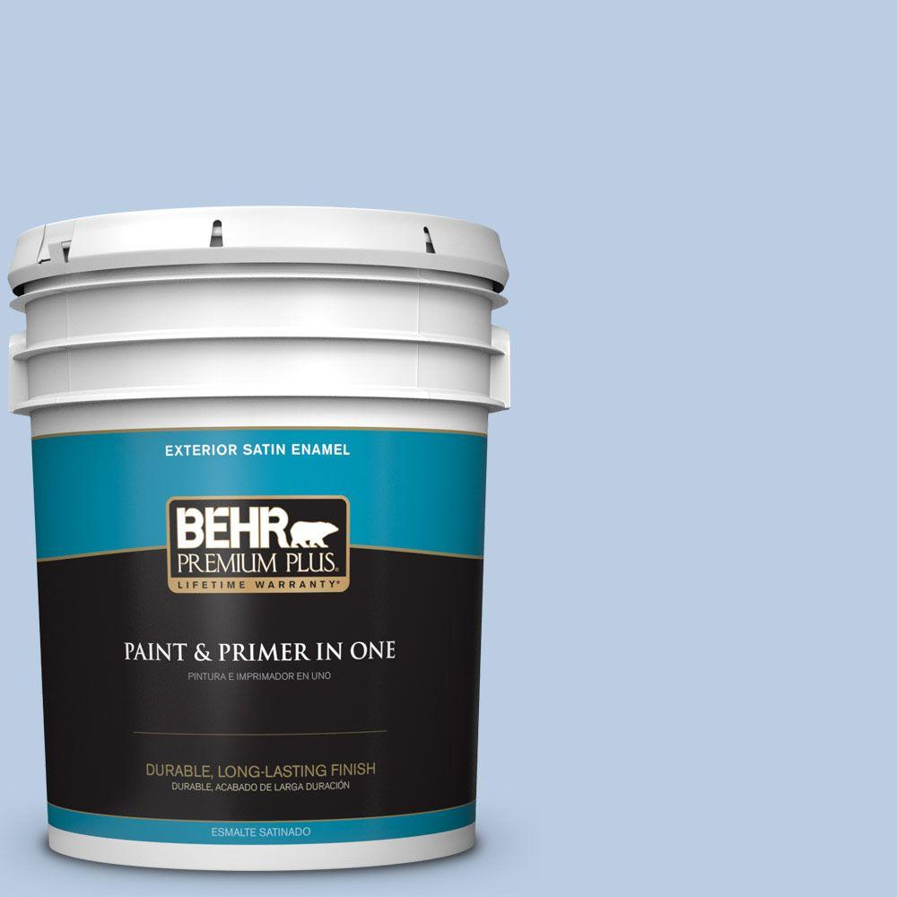 5-gal. #M530-2 Sky's the Limit Satin Enamel Exterior Paint
