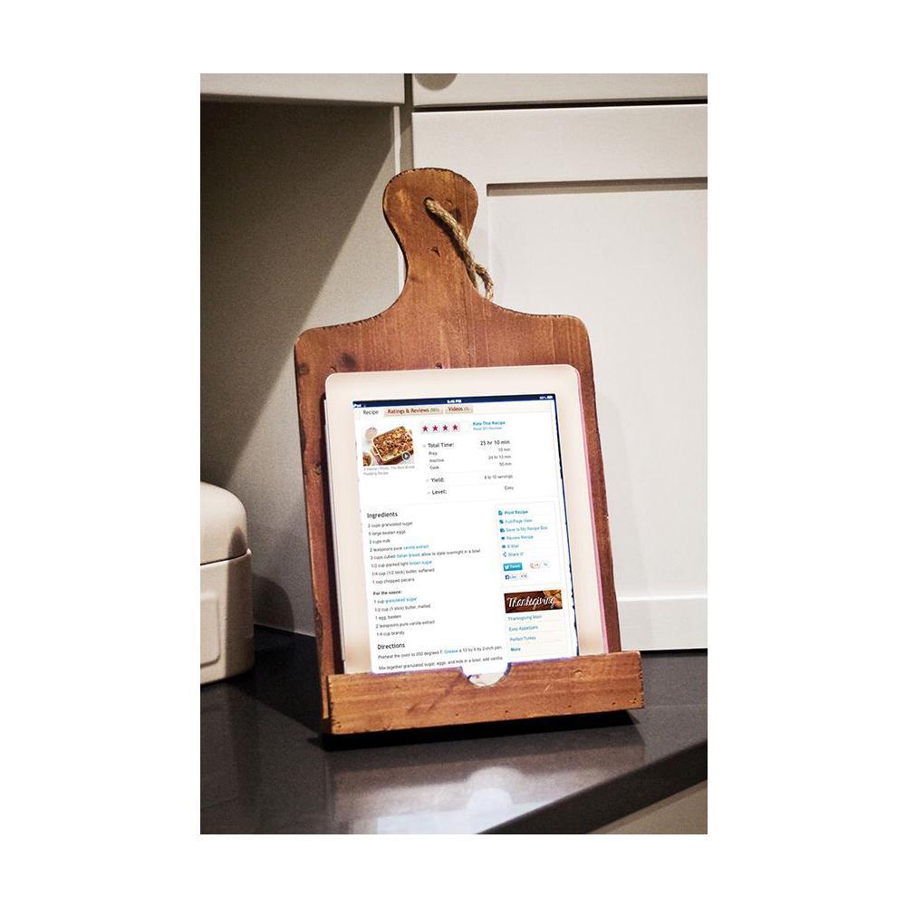 16 in. H x 8.75 in. W Pine Wood Cookbook Holder