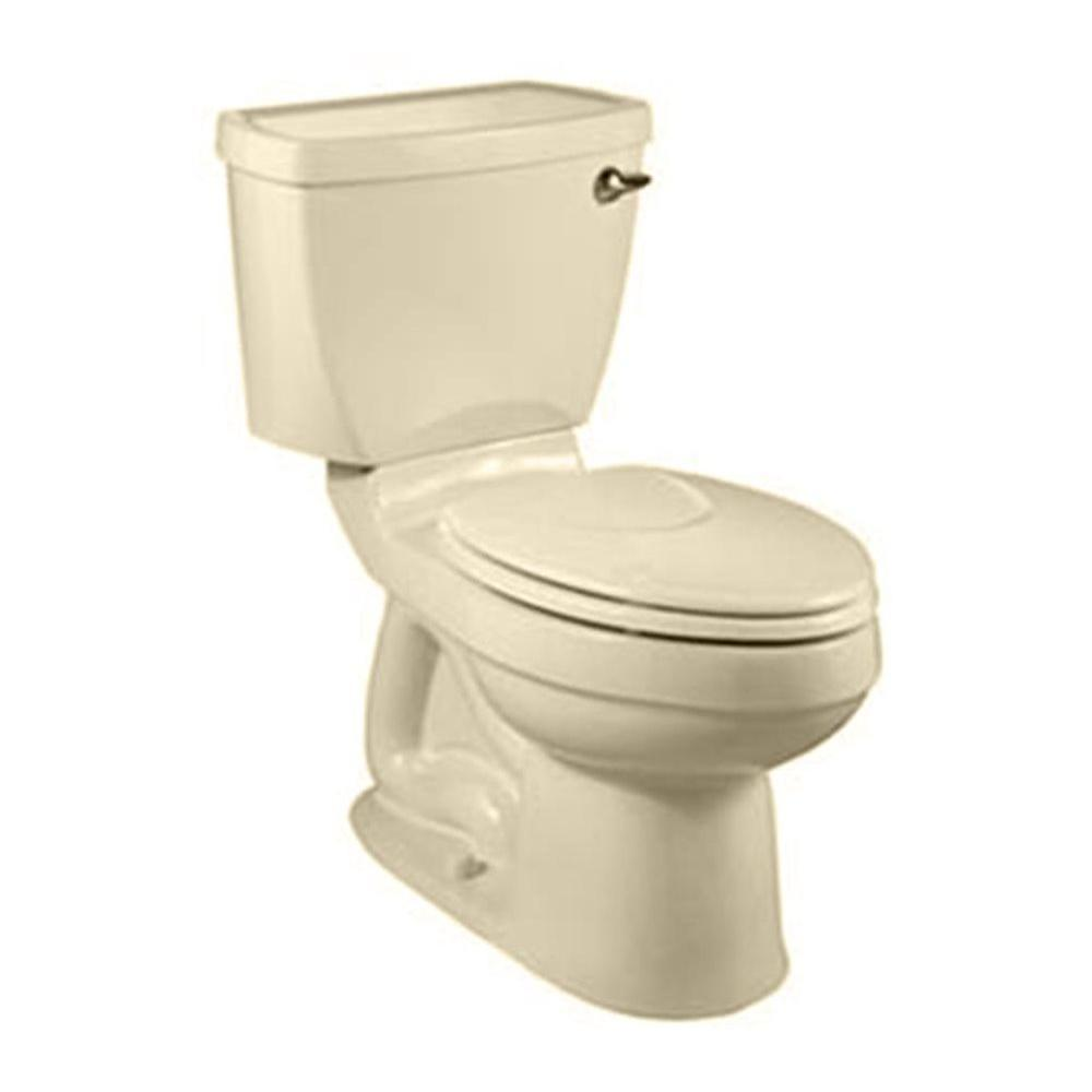 American Standard Champion 4 2-Piece 1.6 GPF Right Height Elongated Toilet Less Seat in Bone-DISCONTINUED