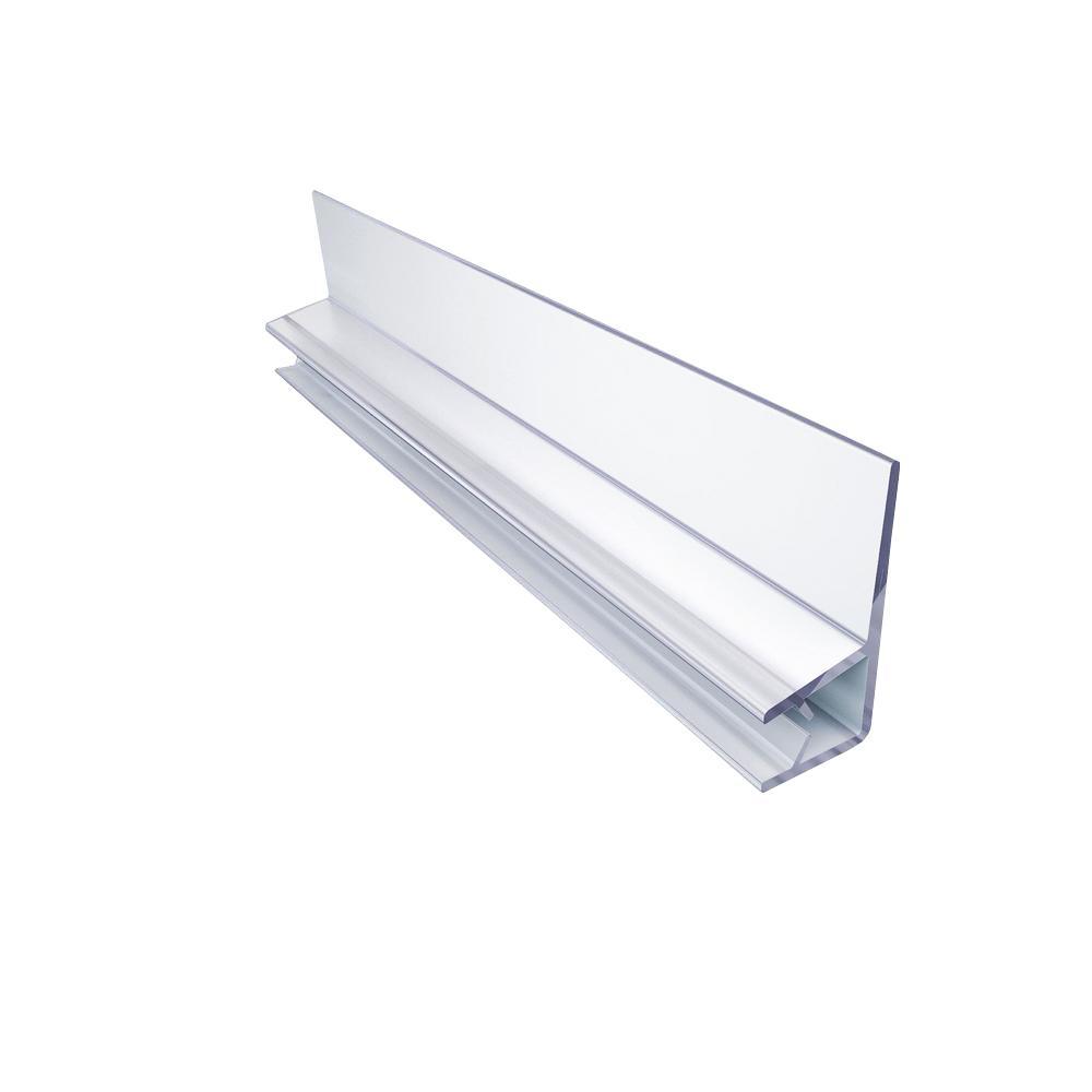 L clear vinyl door seal for 3 8 in glass