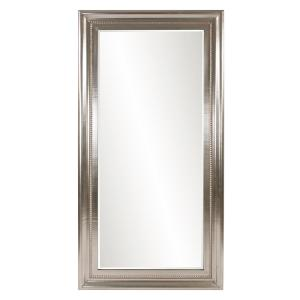 Oversized Rectangle Bright Silver Leaf Hooks Classic Mirror (81 in. H x 43 in. W)