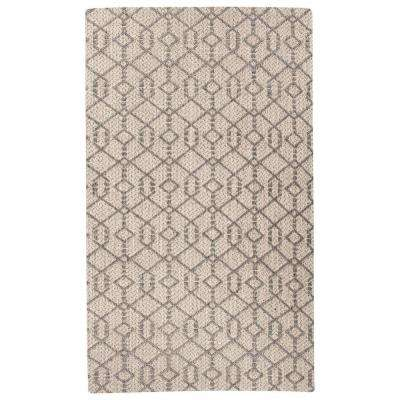 Natural Charcoal Gray 5 ft. x 8 ft. Tribal Area Rug