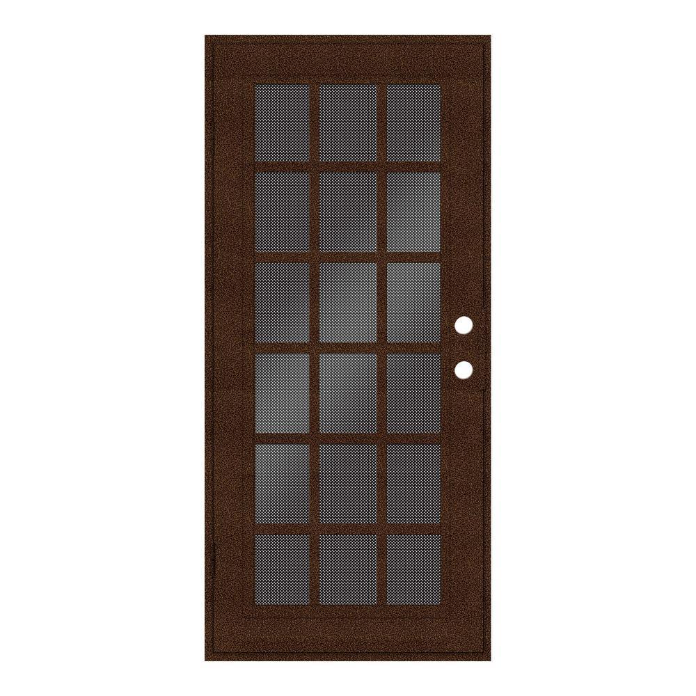 Aluminum 30 X 80 Copper Security Doors Exterior Doors The