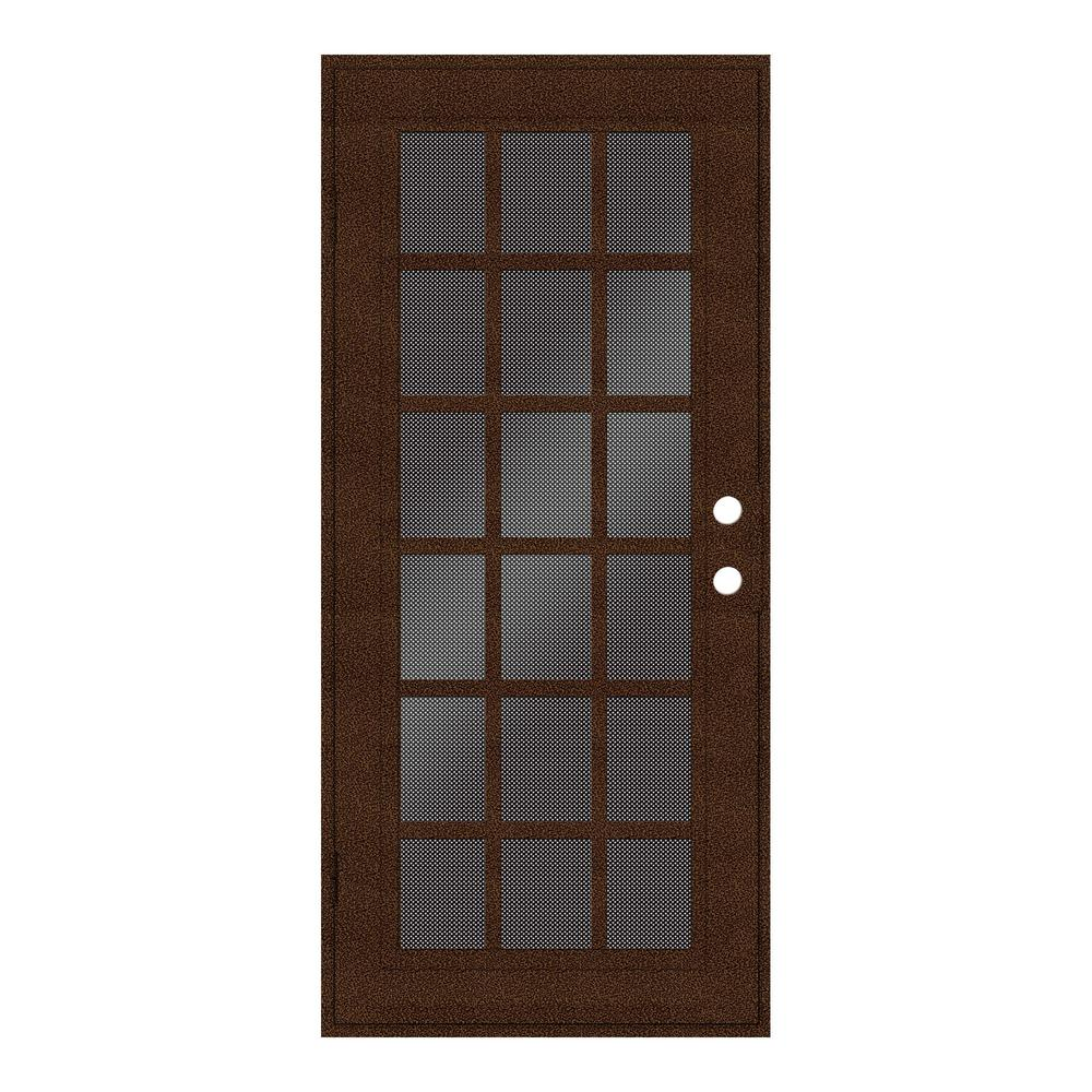 unique home designs 32 in x 80 in classic french copperclad left hand surface mount security. Black Bedroom Furniture Sets. Home Design Ideas