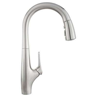 Avery Selectronic Single-Handle Pull-Down Sprayer Kitchen Faucet in Stainless Steel