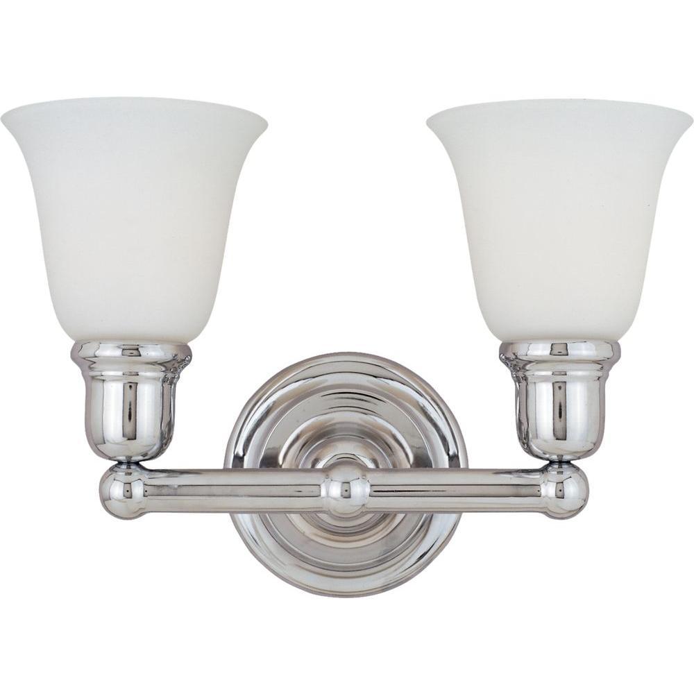 Bel Air 2-Light Polished Chrome Bath Vanity Light