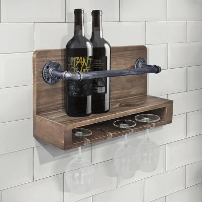 Vox 6-Bottle Industrial Grey Wine Rack