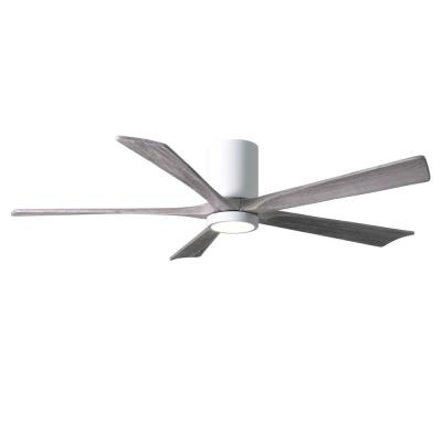 Irene 60 in. LED Indoor/Outdoor Damp Gloss White Ceiling Fan with Light