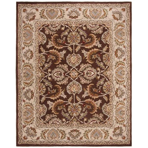Safavieh Heritage Brown Ivory 5 Ft X 8 Ft Area Rug Hg451a 5 The Home Depot
