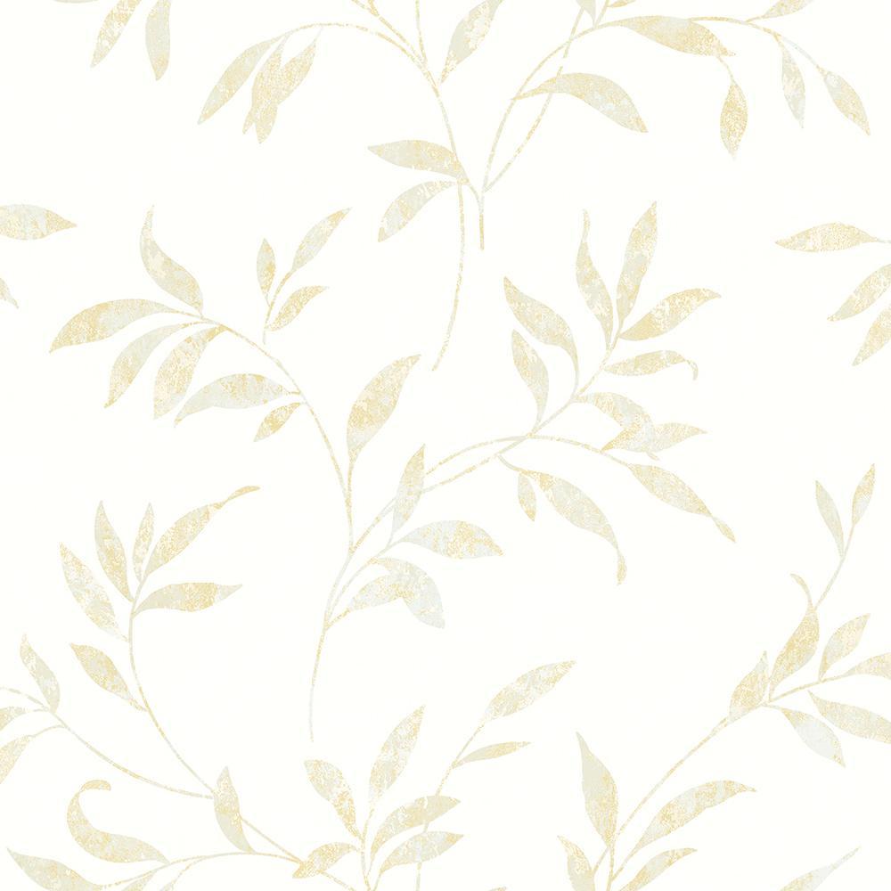 8 in. x 10 in. Sanibel Cream Trail Wallpaper Sample