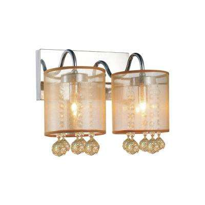 Radiant 2-Light Chrome Sconce