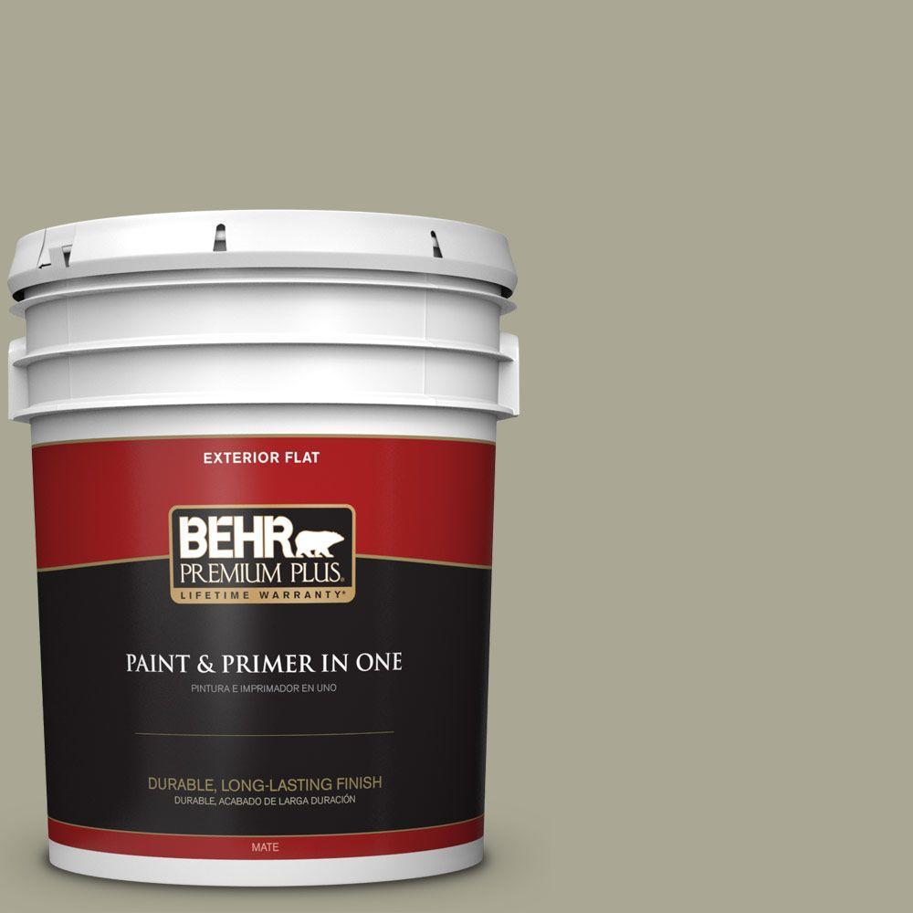 BEHR Premium Plus 5-gal. #N350-4 Jungle Camouflage Flat Exterior Paint