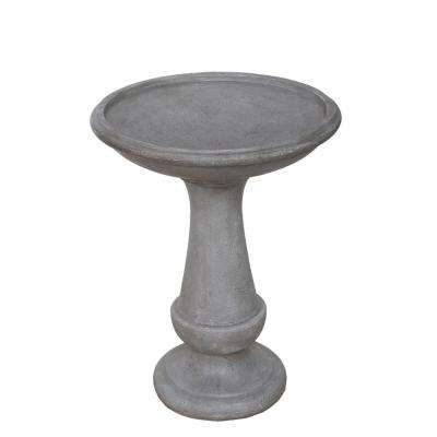 26.25 in. Stone Gray Bird Bath