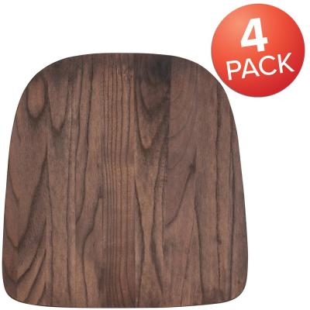 Rustic Walnut Chair Pad (Set of 4)