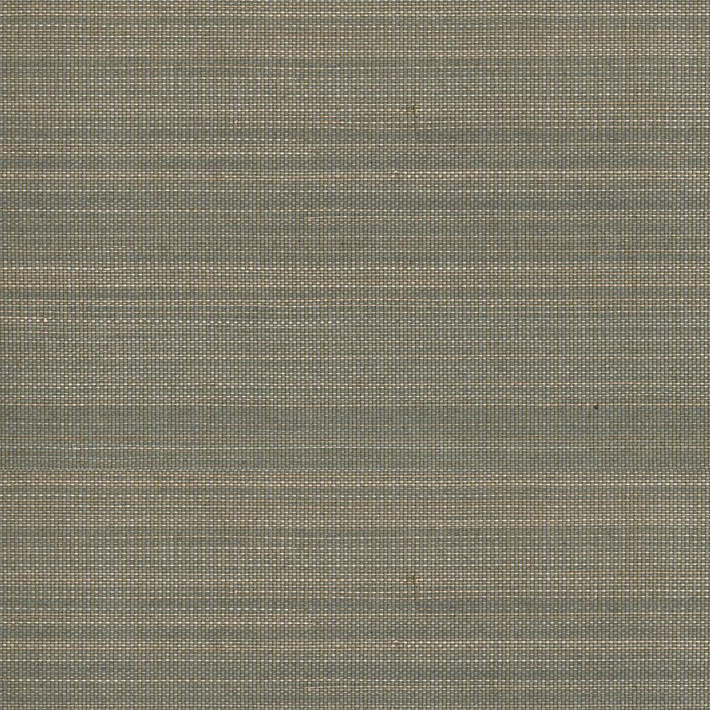 Purna Grey Grasscloth Wallpaper