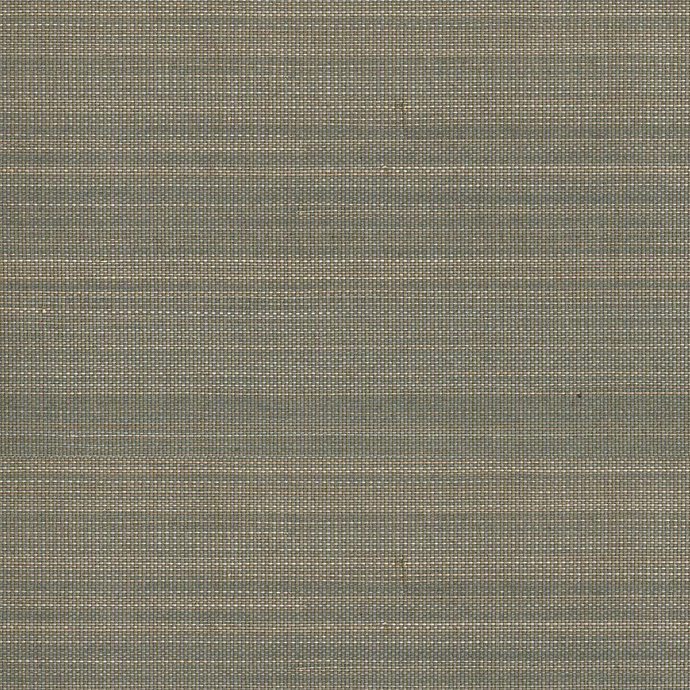 Gray Grasscloth Wallpaper: Kenneth James Purna Grey Grasscloth Wallpaper Sample-2693