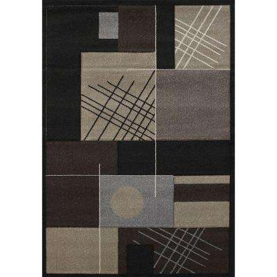 Touche Black 5 ft. 3 in. x 7 ft. 6 in. Area Rug