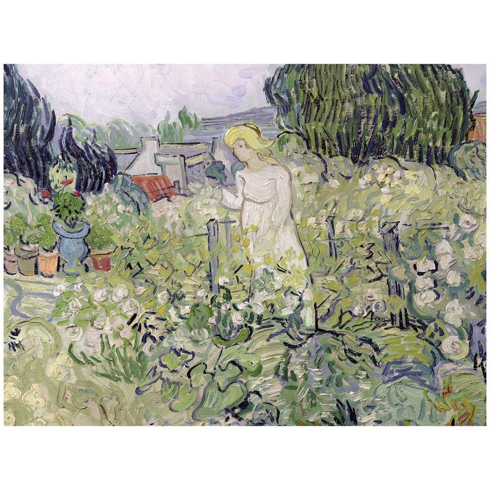35 in. x 47 in. Mademoiselle Gachet at Auvers-sur-Oise Canvas Art
