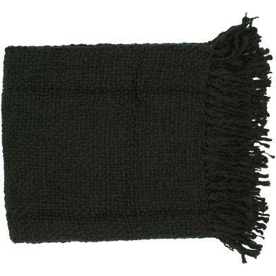 Pepita Black Acrylic Throw
