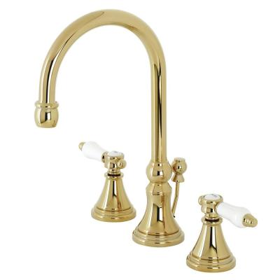 Bel-Air 8 in. Widespread 2-Handle Bathroom Faucet in Polished Brass