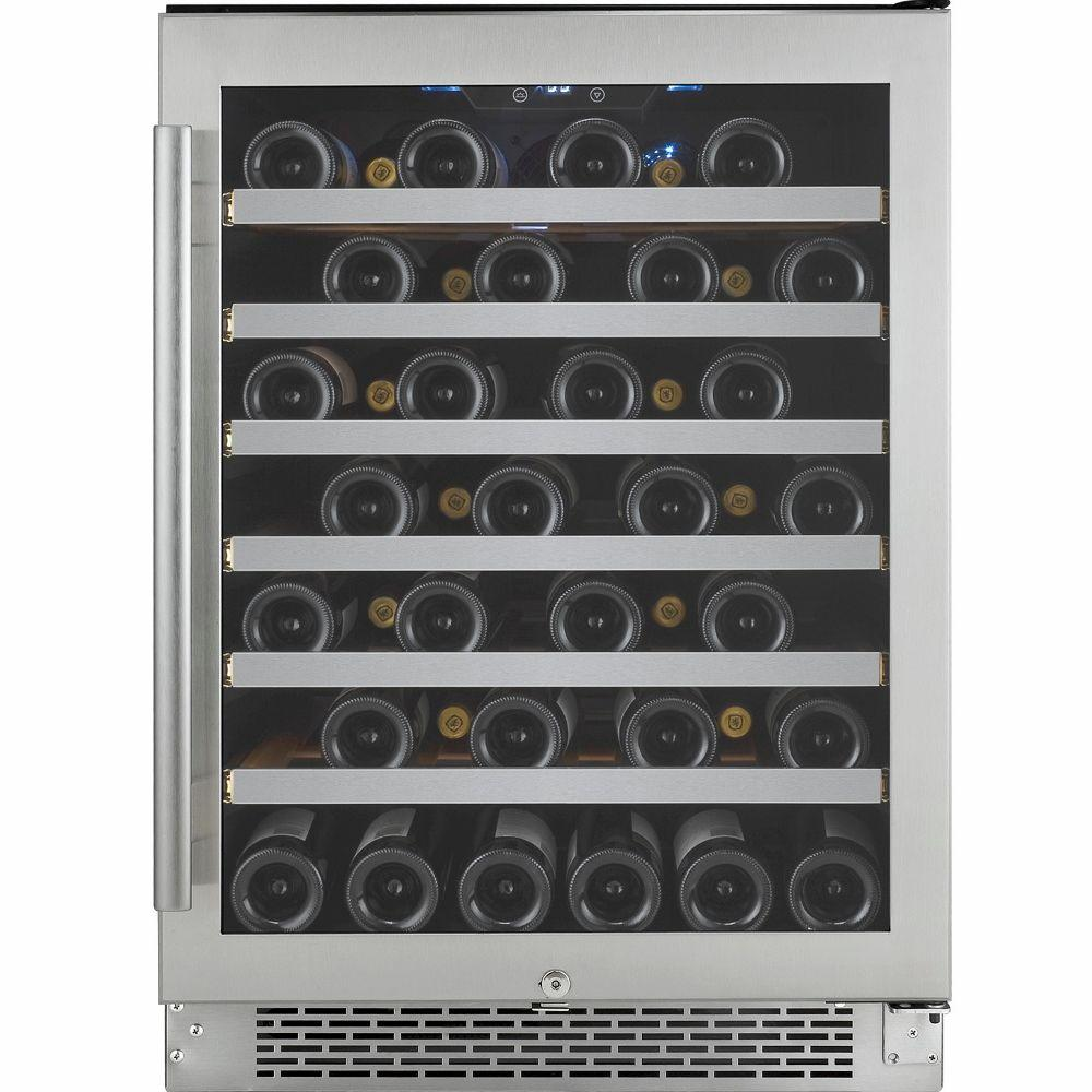 Avallon 54-Bottle Single Temperature Zone Built-In Wine Cooler with Argon Filled Double Paned Glass