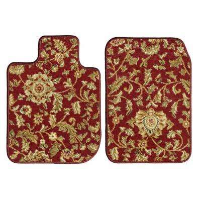 Toyota Highlander Red Oriental Car Mats, Custom Fit for 2014 to 2019 - Driver and Passenger Carpet Car Mats