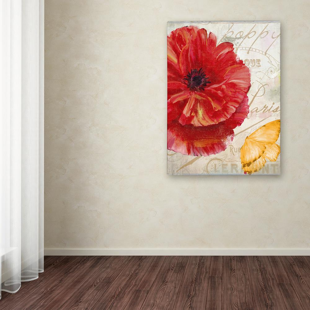 "32 in. x 24 in. ""Red Poppy"" by Color Bakery Printed"