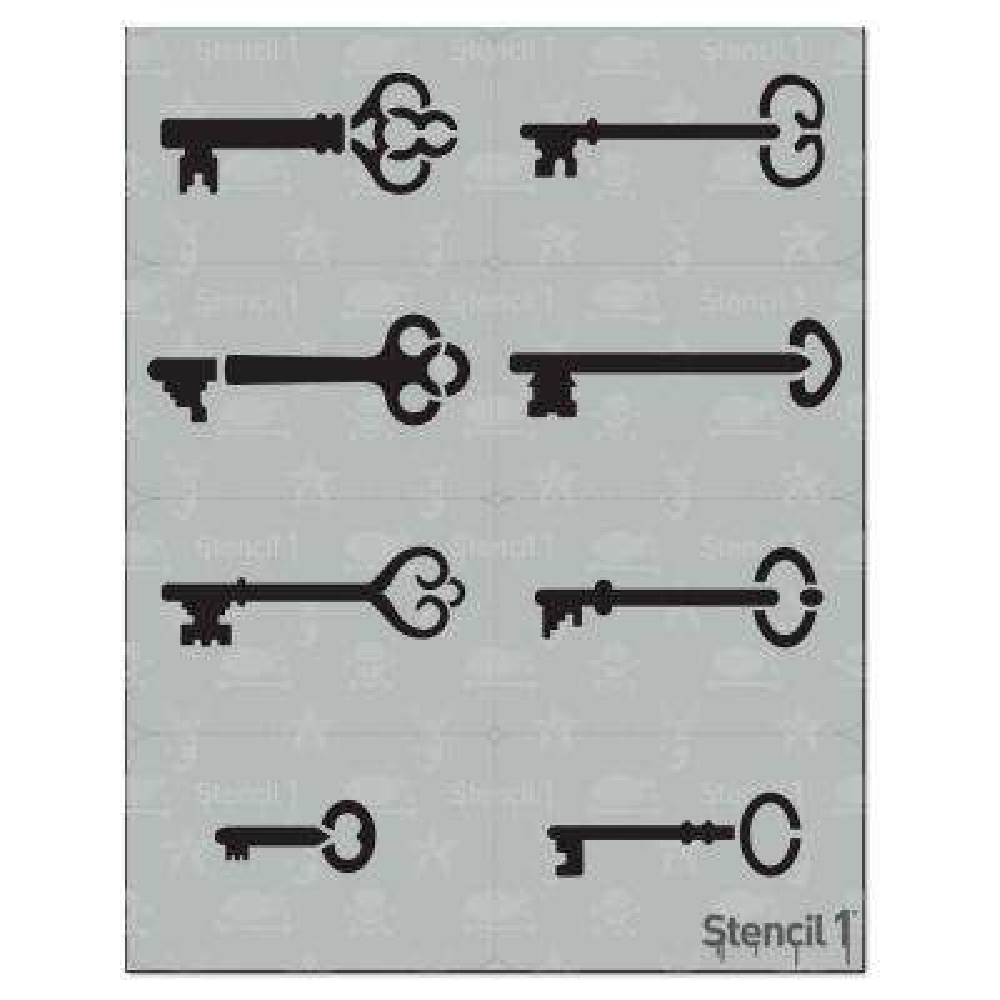 Skeleton Keys Stencil (8-Pack)