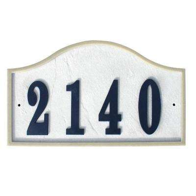 Ridgestone Serpentine Arched Crushed Stone Address Plaque in Slate Stone Color