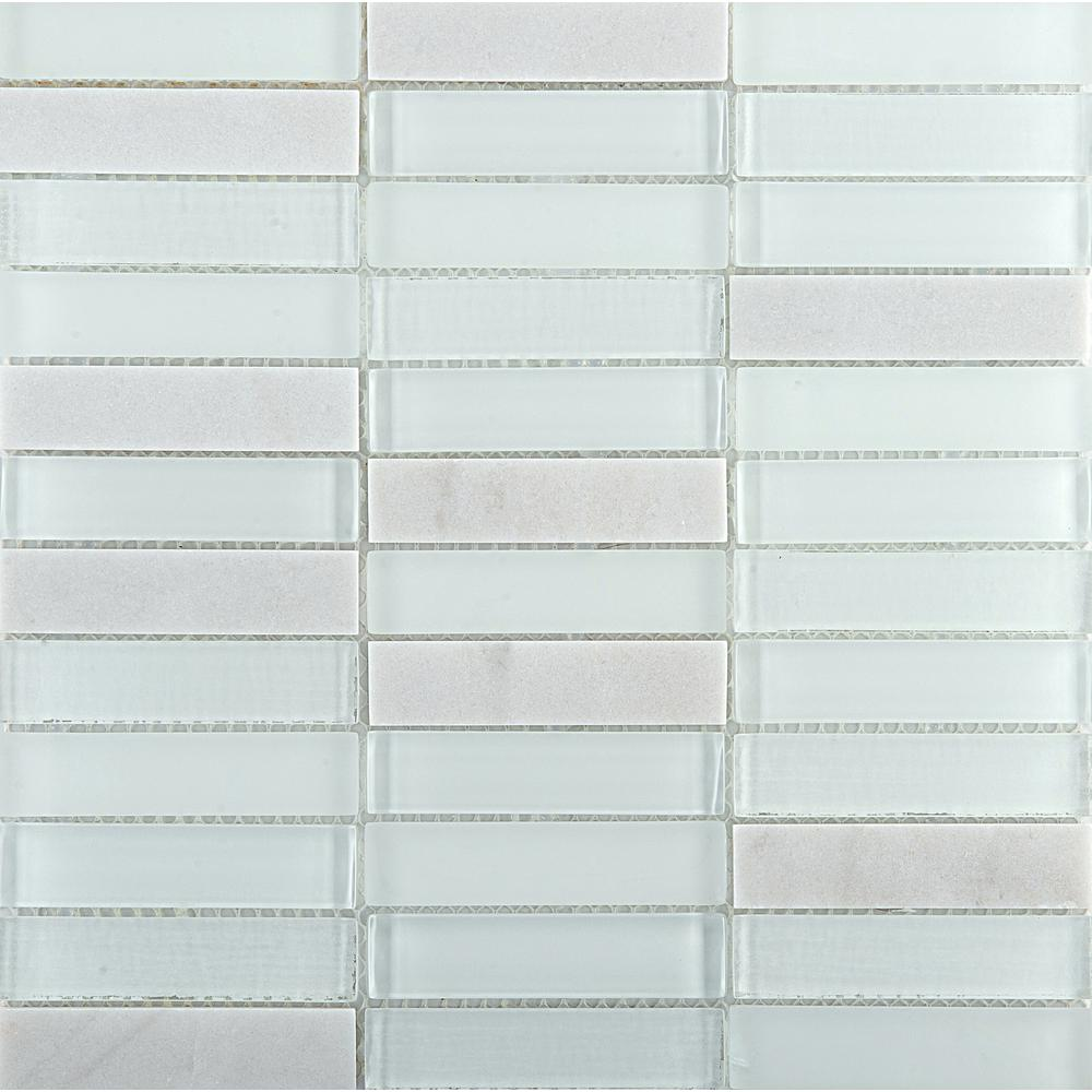 Emser Illumina Flare Glossy 11.73 in. x 11.73 in. x 8mm Glass Mesh-Mounted Mosaic Tile (0.96 sq. ft.)