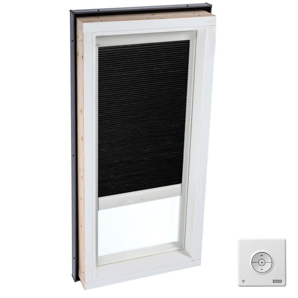 Solar Powered Room Darkening Charcoal Skylight Blinds for FCM 3446 Models