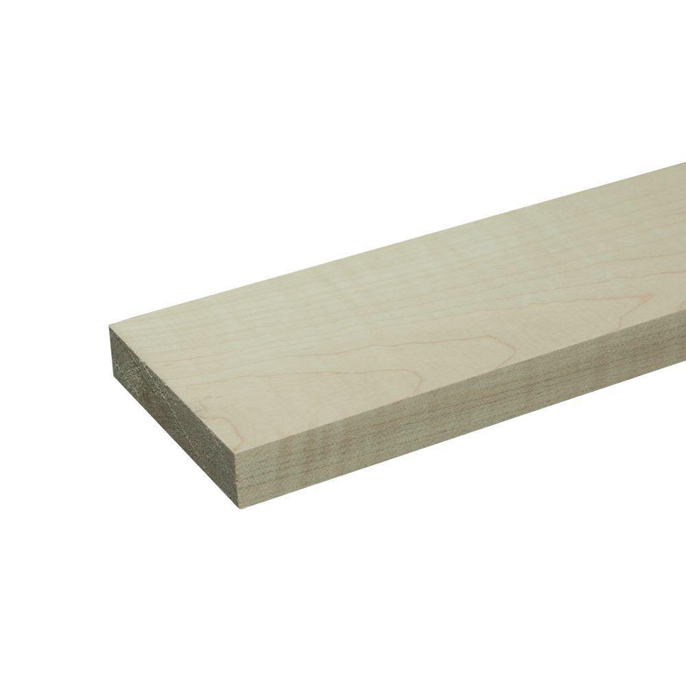 1 in. x 4 in. x 6 ft. S4S Maple Board (2-Piece/Bundle)