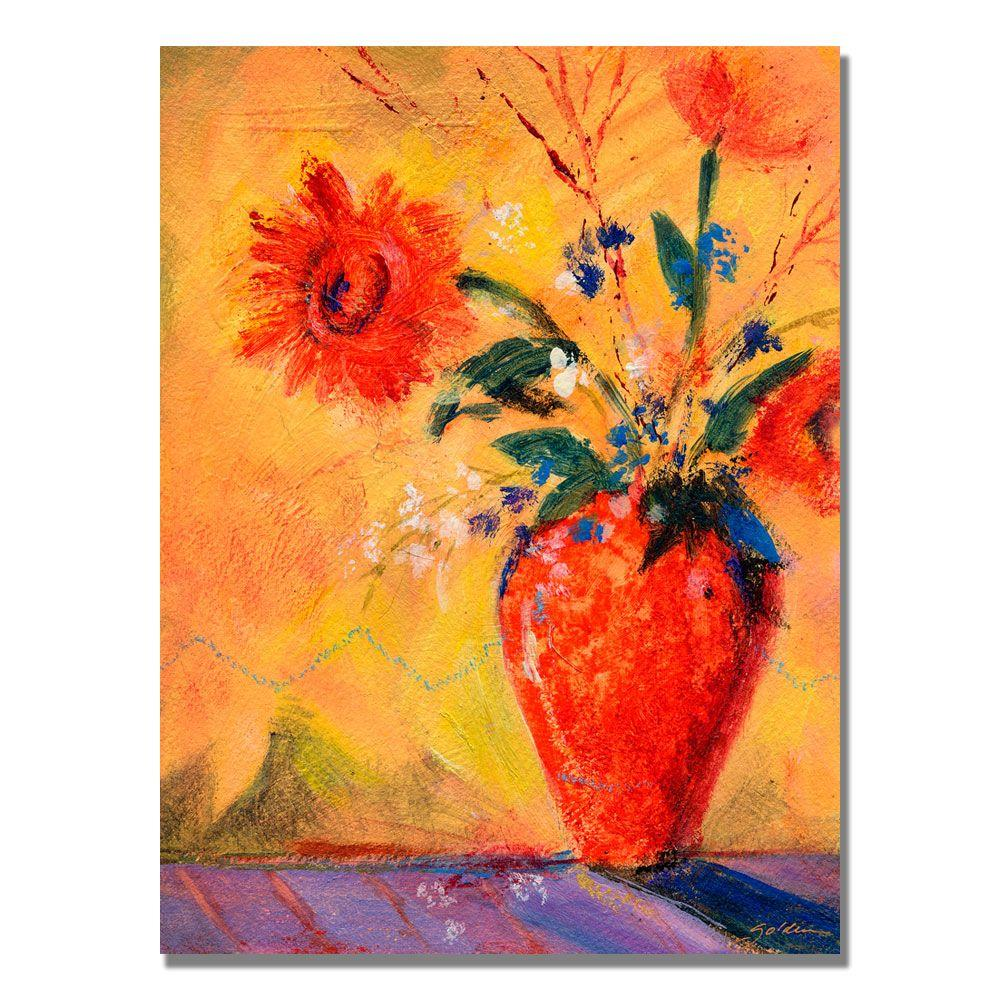 35 in. x 47 in. Fiesta Bouquet Canvas Art