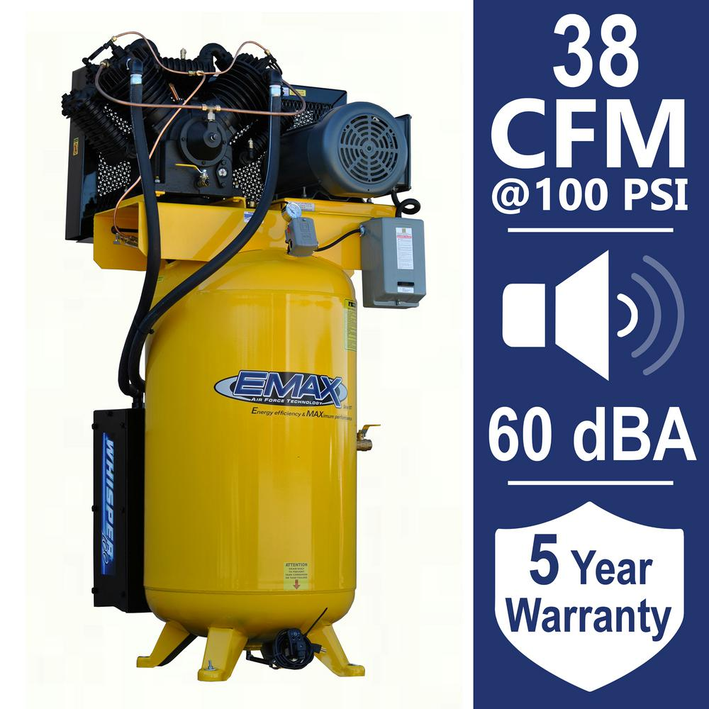 Husky 80 Gal 3 Cylinder Single Stage Electric Air Compressor C801h Help Wiring An Electrical Diy Chatroom Home 10 Hp 230 Volt Phase Silent