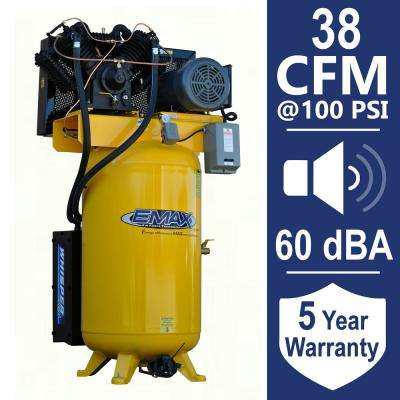 Industrial PLUS 80 Gal. 10 HP 3-Phase Silent Electric Air Compressor