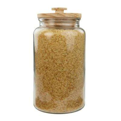 4.2 l Large Seaside Glass Jar with Wooden Top